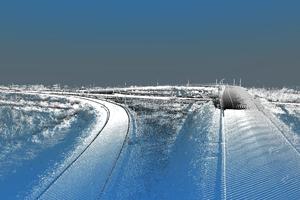 Лазерное сканирование дорог Томской области