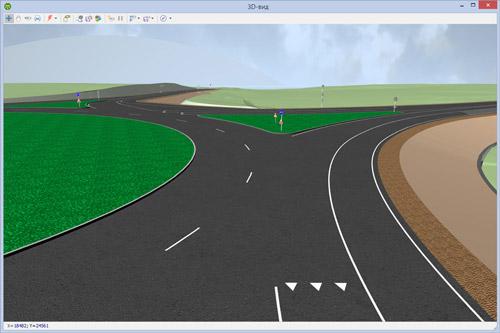 3D-визуализация кольцевого пересечения