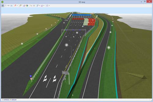 3D-визуализация пункта взимания платы