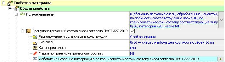 Полное наименование материала по ПНСТ 327–2019