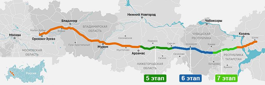 Москва — Нижний Новгород — Казань